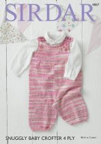 Sirdar Snuggly Baby Crofter 4ply - 4867 Dungarees Knitting Pattern